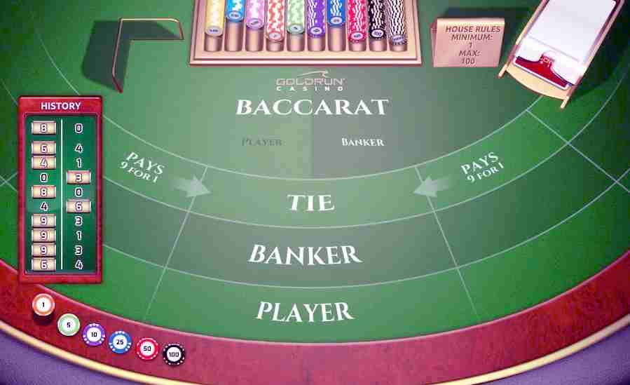 play baccarat online live game